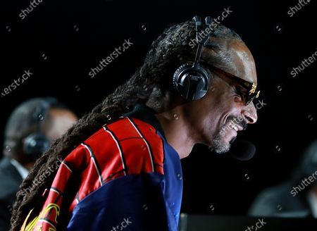 Snoop Dogg performs onstage during Mike Tyson vs Roy Jones Jr. fight at the Staples Center in Los Angeles, California, USA, 28 November 2020.