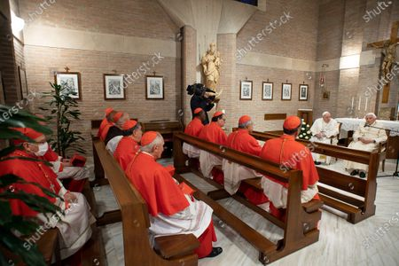 Pope Francis with Pope Emeritus Pope Benedict XVI