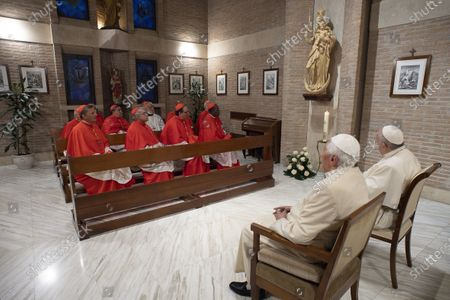 Stock Image of Pope Francis with Pope Emeritus Pope Benedict XVI