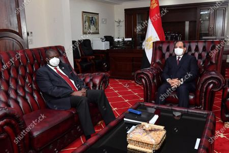 Editorial photo of Egypt's President Abdel Fattah al-Sisi meets with First Vice President of the Republic of South Sudan, Riek Machar, Juba, Sudan - 28 Nov 2020
