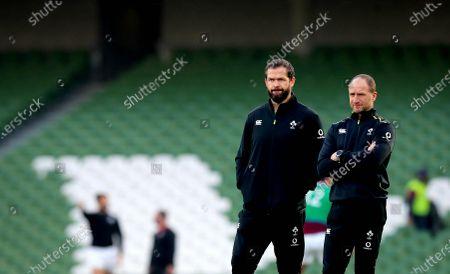 Ireland vs Georgia. Ireland head coach Andy Farrell and Assistant Coach Mike Catt