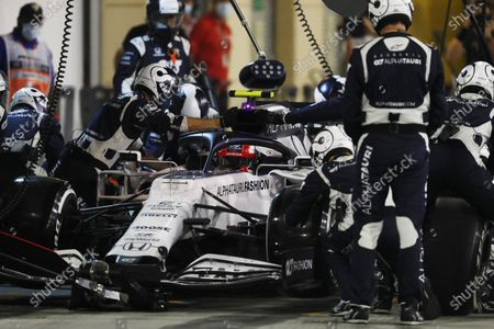 Pierre Gasly, AlphaTauri AT01, in the pits during the 2020 Formula One Bahrain Grand Prix