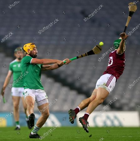 Limerick vs Galway. Limerick's Tom Morrissey and Adrian Tuohy of Galway