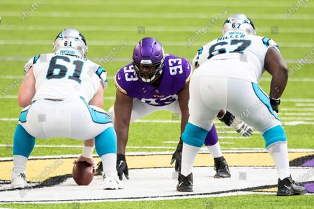 Editorial picture of Panthers Vikings Football, Minneapolis, United States - 29 Nov 2020