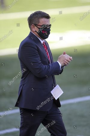 Stock Photo of Arizona Cardinals owner Michael Bidwill prior to an NFL football game against the New England Patriots, in Foxborough, Mass