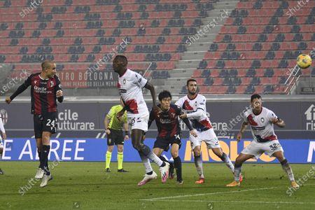 "Rodrigo Sebastian Palacio (Bologna)Simy Simeon Tochukwu Nwankwo (Crotone)           during the Italian ""Serie A"" match between Bologna 1-0 Crotone  at  Renato Dall Ara Stadium in Bologna, Italy."