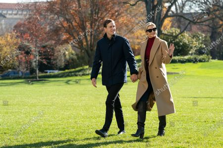 Ivanka Trump and Jared Kushner return to the White House with US President Donald J. Trump after spending Thanksgiving weekend at Camp David, in Washington, DC, USA, 29 November 2020.