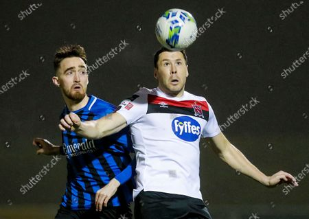 Stock Photo of Athlone Town vs Dundalk. Athlone Town's Dean George and Brian Gartland of Dundalk