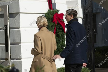 First Daughter and Advisor to the President Ivanka Trump and husband, Jared Kushner, Assistant to the President and Senior Advisor return to the White House with United States President Donald Trump after spending Thanksgiving weekend at Camp David, the presidential retreat near Thurmont, Maryland.