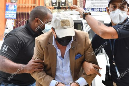 Juan Alexis Medina Sanchez, brother of former Dominican President Danilo Medina (2012-2020), is taken to the Palace of Justice, in Santo Domingo, Dominican Republic, 29 November 2020. Two brothers of former Dominican President Danilo Medina (2012-2020) were arrested a day earlier as part of a group of former officials, suppliers and front men who took advantage of ties with political power to accumulate fortunes during the past government period.