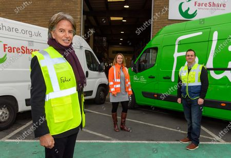 Exclusive - Richard Caring volunteers at a food drive with FareShare and The Felix Project charitable organizations
