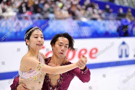Kana Muramoto & Daisuke Takahashi (JPN) - Figure Skating : ISU Grand Prix of Figure Skating 2020/21 NHK Trophy Ice Dance Free Dance at Towayakuhin RACTAB Dome, Osaka, Japan.