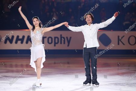 Kana Muramoto & Daisuke Takahashi (JPN) - Figure Skating :  ISU Grand Prix of Figure Skating 2020/21  NHK Trophy Exhibition  at Towayakuhin RACTAB Dome, Osaka, Japan.
