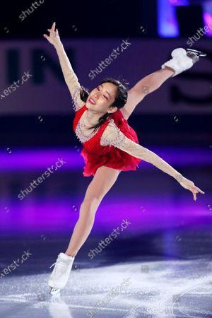 Stock Image of Mai Mihara (JPN) - Figure Skating :  ISU Grand Prix of Figure Skating 2020/21  NHK Trophy Exhibition  at Towayakuhin RACTAB Dome, Osaka, Japan.
