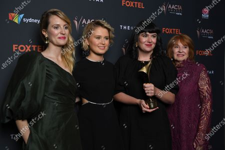 Stock Image of Shannon Murphy, actress Eliza Scanlen and producers Alex White and Jan Chapman pose with the award for Best Film at the 2020 Australian Academy of Cinema and Television Arts (AACTA) Awards in Sydney, Australia, 30 November 2020.