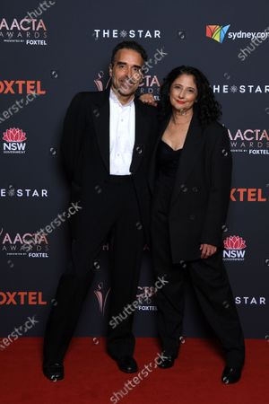 Stock Image of Richard James Allen (L) and Karen Pearlman arrive at the 2020 Australian Academy of Cinema and Television Arts (AACTA) Awards in Sydney, Australia, 30 November 2020.