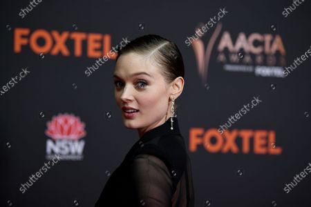 Stock Image of Bella Heathcote arrives at the 2020 Australian Academy of Cinema and Television Arts (AACTA) Awards in Sydney, Australia, 30 November 2020.