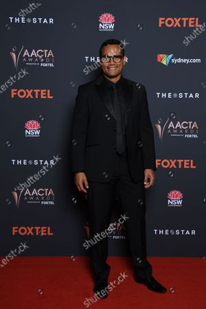 Australian television actor Rob Collins arrives at the 2020 Australian Academy of Cinema and Television Arts (AACTA) Awards in Sydney, Australia, 30 November 2020.