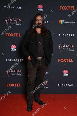 Stock Photo of Warwick Thornton arrives at the 2020 Australian Academy of Cinema and Television Arts (AACTA) Awards in Sydney, Australia, 30 November 2020.