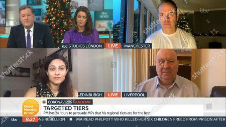 Piers Morgan, Susanna Reid, Simon Wood, Prof. Devi Sridhar and Joe Anderson