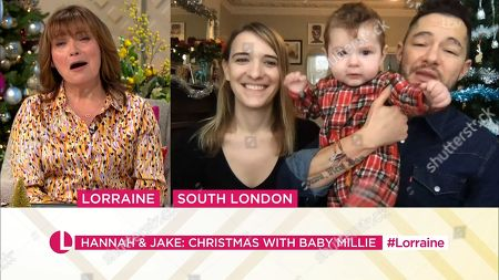 Stock Photo of Lorraine Kelly, Hannah Graf, Jake Graf and Millie