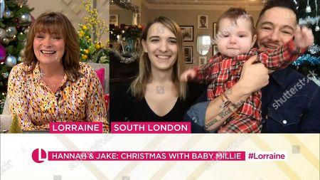 Lorraine Kelly, Hannah Graf, Jake Graf and Millie