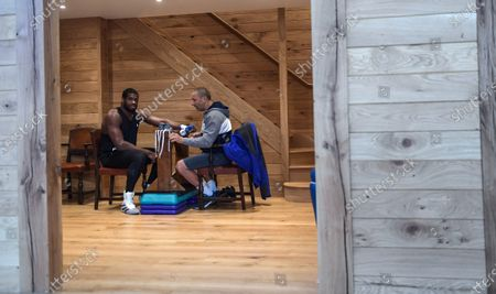 Daniel Dubois exclusive prior to his fight with Joe Joyce in the Peacock gym