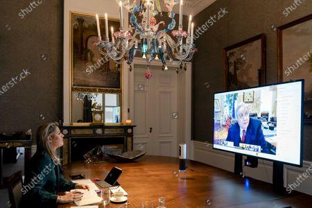 Editorial picture of Queen Maxima in talks at G20 summit, Den Haag, Netherlands - 30 Nov 2020