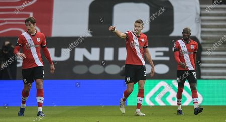 Stock Photo of Jan Bednarek of Southampton scores 1-0