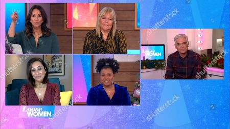 Andrea McLean, Linda Robson, Saira Khan, Brenda Edwards and Phillip Schofield