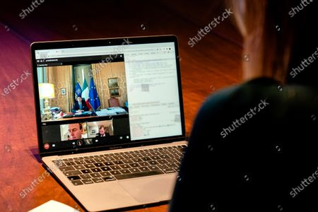 Stock Picture of On Monday morning, November 30, Queen Maxima paid a virtual visit in her UN capacity to the upcoming G20 president Italy. She spoke with Prime Minister Giuseppe Conte and Banca d'Italia Governor Ignazio Visco about inclusive finance. Italy will chair the G20 from December 1.