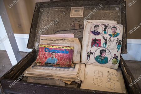 Music sheets belonging to Georges Garaventz are displayed as part of the sale by the Piasa auction house of the collections of the musician Georges Garvarentz, in Paris, France, 30 November 2020. Garvarentz (1932-1993), a famous songwriter and film music composer, was married to the sister of late French singer Charles Aznavour. The auction is taking place online on 04 December 2020.