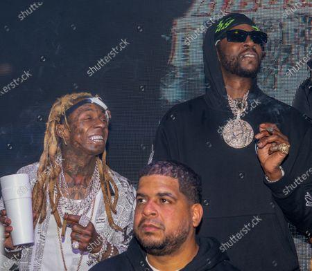 (L-R) Lil Wayne and 2 Chainz