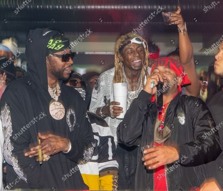 (L-R) 2 Chainz, Lil Wayne and Juvinille