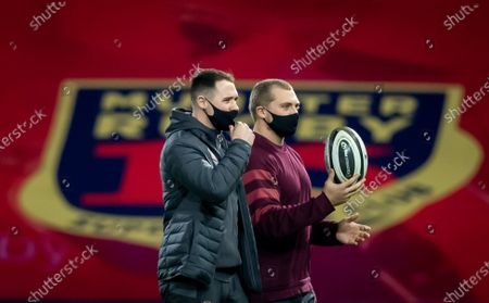 Munster vs Zebre. Munster's Sean French and Keynon Knox before the game