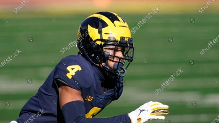 Michigan defensive back Vincent Gray plays during the first half of an NCAA college football game, in Ann Arbor, Mich