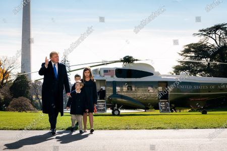 Editorial picture of Trump returns to the White House, Washington DC, USA - 29 Nov 2020