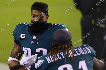Philadelphia Eagles' Rodney McLeod (23) and Nickell Robey-Coleman (31) during an NFL football game against the Seattle Seahawks, in Philadelphia. The Seahawks defeated the Eagles