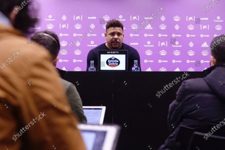 Former Brazilian soccer player Ronaldo Nazario, Spanish LaLiga club Real Valladolid's President and owner, addresses a press conference to talk about situation of the team, in Valladolid, northern Spain, 01 December 2020. Ronaldo said that he 'has no intention to sell the team'.