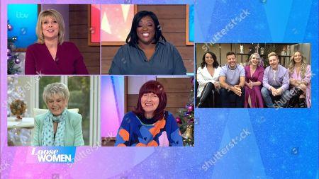 "Stock Photo of Ruth Langsford, Judi Love, Gloria Hunniford, Janet Street-Porter, Claire Richards, Lee Latchford-Evans, Lisa Scott-Lee, Faye Tozer and Ian ""H"" Watkins - Steps"