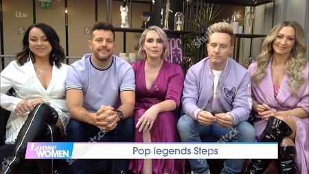 """Stock Picture of Claire Richards, Lee Latchford-Evans, Lisa Scott-Lee, Faye Tozer and Ian """"H"""" Watkins - Steps"""
