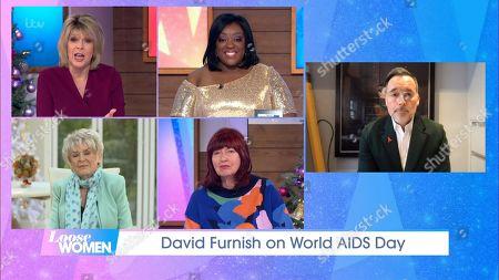 Ruth Langsford, Judi Love, Gloria Hunniford, Janet Street-Porter, David Furnish