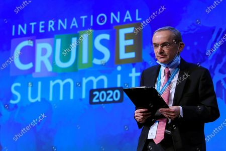 David Selby, Managing Director of Travelyields LTD, speaks during the International Cruise Summit 2020, said to be the most important cruise conference in Europe, in Madrid, 01 December 2020. The International Cruise Summit 2020 runs from 01 to 02 December 2020.