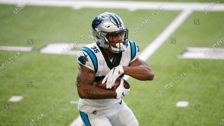 Carolina Panthers running back Rodney Smith runs up field during an NFL football game against the Minnesota Vikings, in Minneapolis