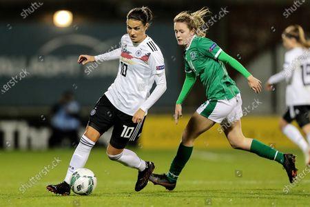 Republic of Ireland WNT vs Germany. Germany's Dzsenifer Marozsan and Heather Payne of Ireland