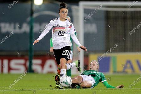 Republic of Ireland WNT vs Germany. Germany's Lina Magull and Heather Payne of Ireland