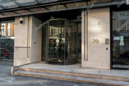 The Arcadia Group head office in Berners Street. Sir Philip Greens's Arcadia fashion group including Topshop, Burton, Wallis, Evans and Dorthy Perkins have gone into administration putting 13,000 jobs at risk. The Covid-19 trading restrictions have added to Arcadia Groups trade and profits.
