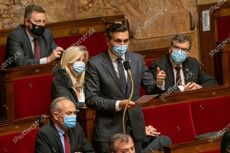 Stock Picture of Julien Aubert during the weekly session of questions to the government at the French National Assembly.