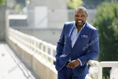 """Petri Hawkins Byrd, bailiff on the reality court television program """"Judge Judy,"""" poses for portrait, in Los Angeles"""