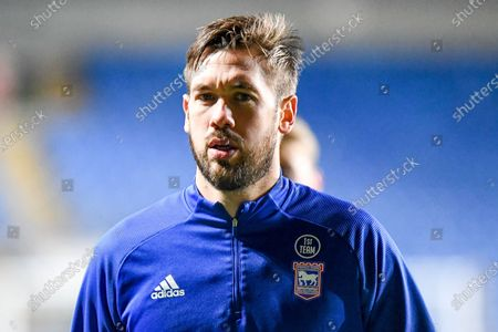 Portrait of Ipswich Town defender Luke Chambers (4) during the EFL Sky Bet League 1 match between Oxford United and Ipswich Town at the Kassam Stadium, Oxford